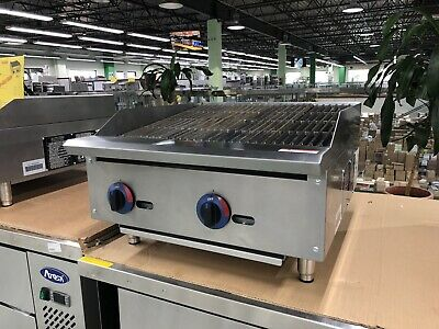 "24"" Charbroiler Radiant Griddle Grill Countertop Natural Gas - 70,000 BTU - NEW"