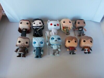 Game Of Thrones Trono Spade lotto 10 figure Funko Pop no box SANSA,GREY WORM...