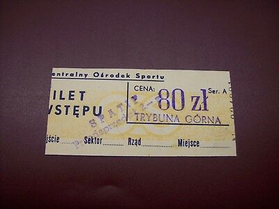 Ticket  Pologne - Csrs 17/10/1979