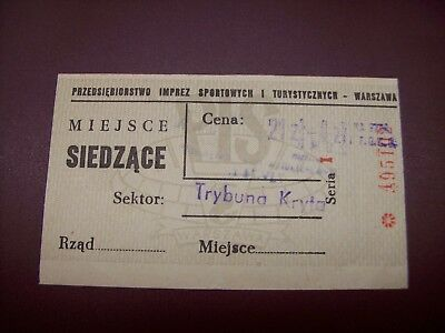 Ticket  Pologne - Urss 7/4/1974