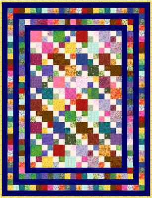 """HIGELTY PIGELTY - 69"""" x 53"""" - Quilt-Addicts Precut Quilt Single size"""