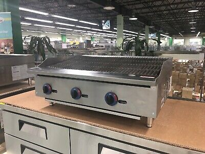 "36"" Charbroiler Radiant Griddle Grill Countertop Natural Gas - 105,000 BTU - NEW"