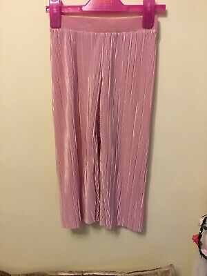 Girls Plisse Trousers, 2 Pairs. Age 4-5. Worn