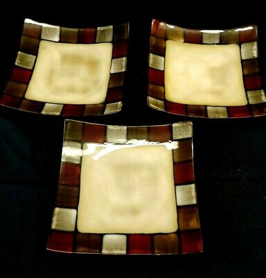 PFALTZGRAFF Taos Everyday Dinnerware, Square Plates, Pre owned