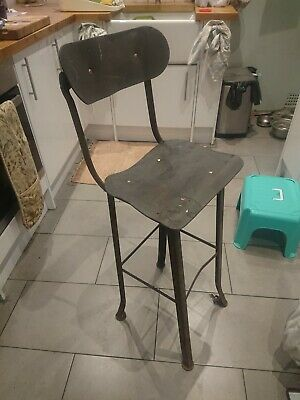 Vintage Antique Engineer's Machinist Stool