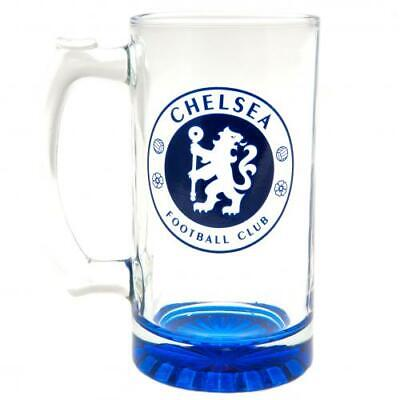 Official CHELSEA FC Stein Glass Tankard Blues Birthday Christmas Fathers Gift