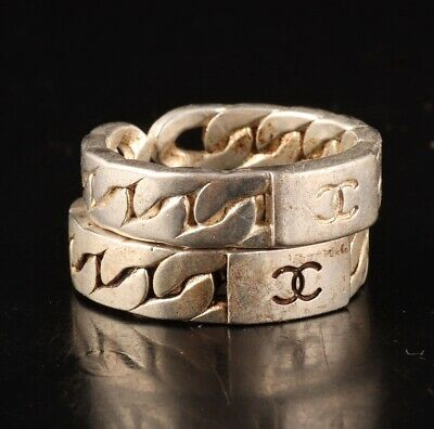 2 Vintage China Tibetan Silver Handmade Rings Exclusively Customized Old