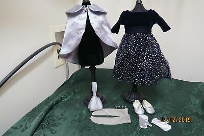 American Girl Merry Moonlight Retired Outfit Cape Dress Rare Christmas Winter