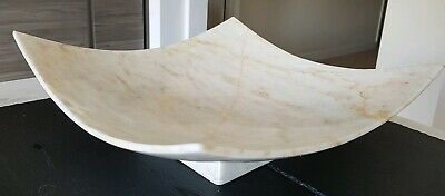 Rare Large Marble Fruit Display Bowl - Hotel Commercial Domestic Contemporary