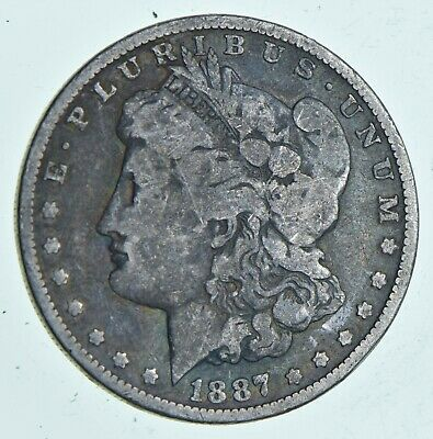 Early 1887-O Morgan Silver Dollar - 90% US Coin *136