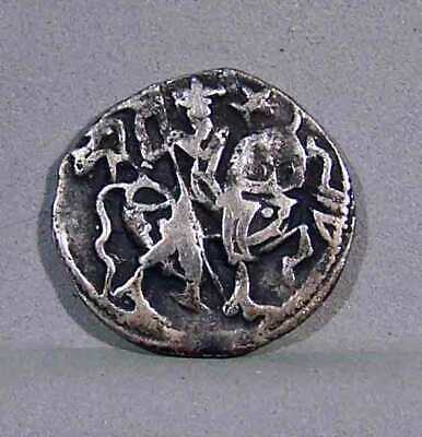 SHAHIS OF OHIND INDIA ,c.10th Cent. AD, AR Dirham. Obv. Horse & Rider, Rev. Bull