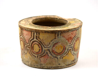 Indus Valley terracotta painted pyxis