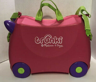 Melissa & Doug Trunki Original Kids Ride-On Suitcase and Carry-On Luggage, Pink