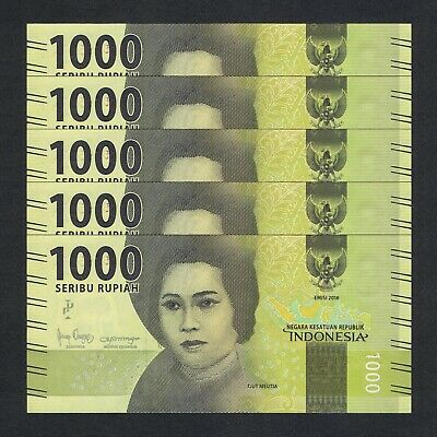 P-141k INDONESIA 1,000 Rupiah 2013 UNC World Currency 1000
