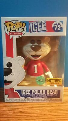 Funko Pop Ad Icons ICEE POLAR BEAR (SCENTED)! Hot Topic Exclusive! New! #72