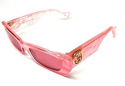 New Gucci GG 0516-S 003 Pink Women's Authentic Sunglasses 52-20-A9
