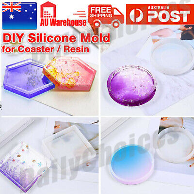 Coaster Resin Casting Mold Silicone Jewelry Agate Making Epoxy Mould Tool Craft.