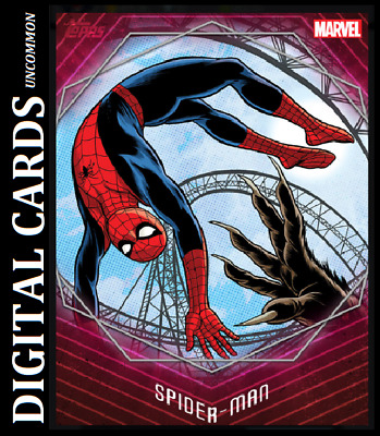 Topps Marvel Collect Card Trader Speed Week 1 Spider-Man Red