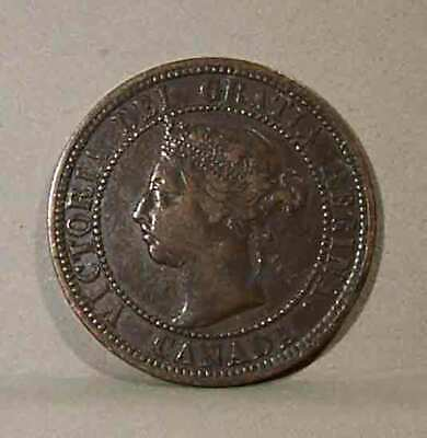1890-H CANADIAN LARGE CENT, Very Fine