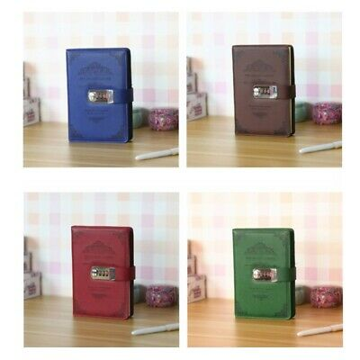 Retro Notebook Password Book with Lock Creative School Office Supplies Stationer
