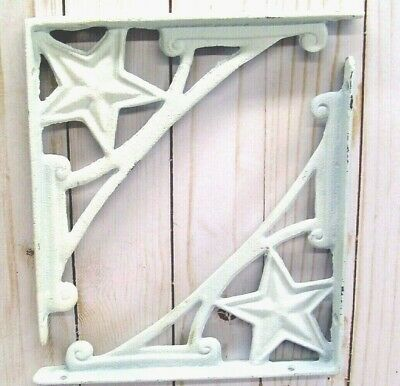 VINTAGE STYLE SHELF BRACKETS,  LOT of 2, HOME DECOR, RUSTIC WHITE