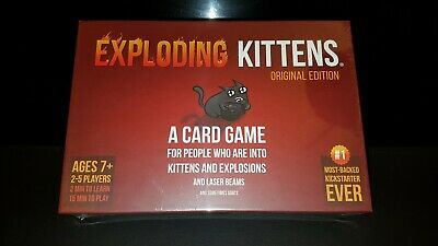 GENUINE Exploding Kittens Card Game Original Edition Brand New & Sealed xmx gift