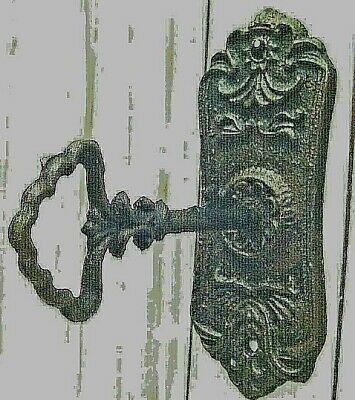 LOT of TWO, VINTAGE STYLE WALL HOOK, DRAWER, CABINET PULL with KEY LIKE HANGER,