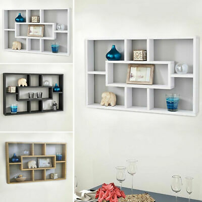 Space Saving Floating Wall Shelves Stylish Display Shelf Bookshelf Storage Unit
