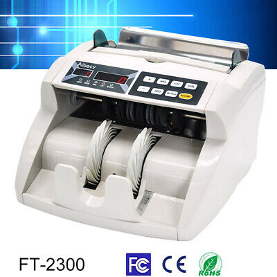 Aibecy Multi Currency Automatic Cash Banknote Money Bill Counter Machine US N6M2
