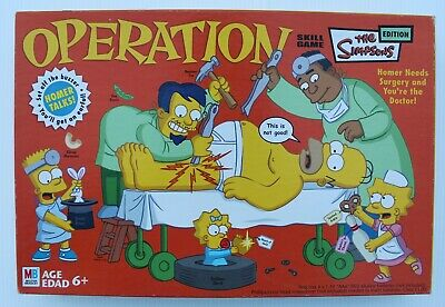 Operation Skill Game The Simpsons Edition 2005 Complete