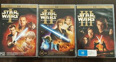 Star Wars Rare Dvd Complete 2-Disc Edition Of Episode I Ii & Iii Prequel Trilogy