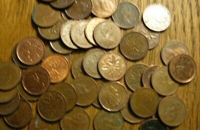 CANADIAN (Penny) ONE CENT  90 COUNT W/ Mixed Dates 98% COPPER CANADA COIN