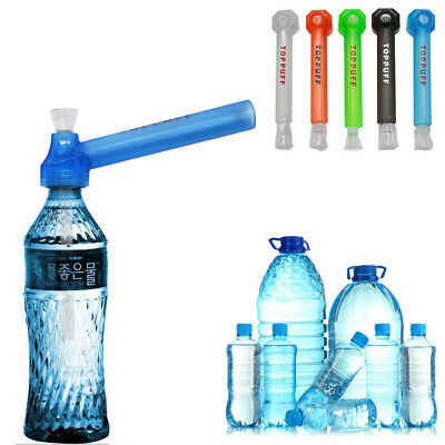 Portable Water Bong Screw on Bottle Converter Smoking Hookah Pipe Glass Pipes