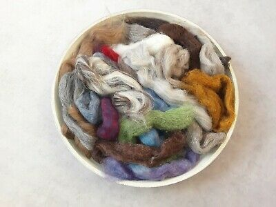 100g Wool Pack in Mixed Colours, Natural, Blends Felting, Needle Felting