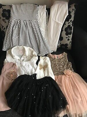 Bundle Of Girls Clothes. Party Dress. Girls Tops. Tutu. Leggings. Jackets. Skirt