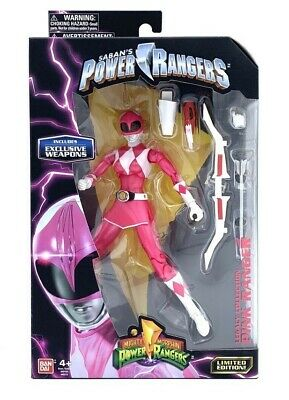 "METALLIC PINK /& YELLOW RANGER 6.5/"" Power Rangers Legacy figure w// weapons bow"