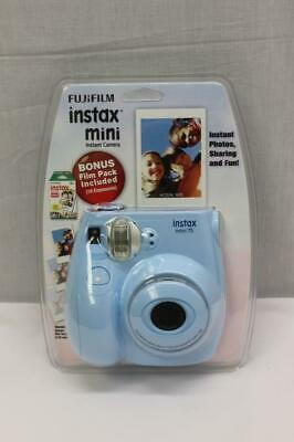 Fujifilm Instax Mini 7s Instant Camera (Light Blue) With 10 Sheets of Film NEW!
