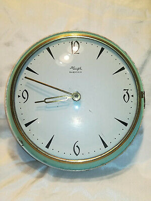 Vintage KIENZLE Kitchen Wall tin clock, For parts or repairs