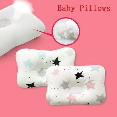 Baby Infant Newborn Pillow Stereotype Flat Head Sleeping Prevent Soft Breathable