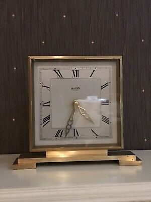 Stunning Art Deco Bentima 8 Days Mantel Desk Clock Quality/Heavy