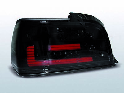 NEW LTI LED Tail Lights BMW 3 Series E36 90-99 Coupe Cabrio Smoke CH LDBMA5EL XI