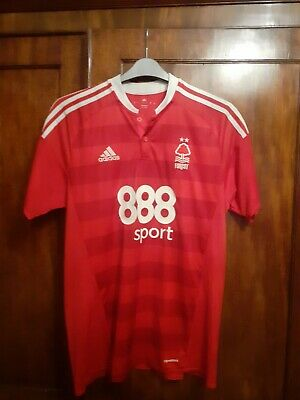 Nottingham Forest FC Adidas Official Home Shirt 2016-2017 Adult size L No.1 Dad!
