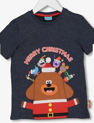 Sainsburys TU Hey Duggee Merry Christmas Xmas T-Shirt 18-24 Months NEW