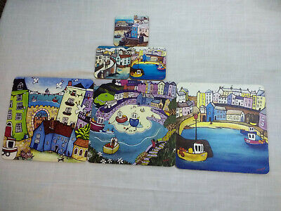 Colorful Set of Coasters and Placemats Place Mats
