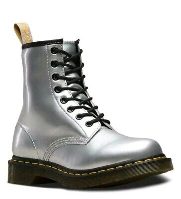 DR MARTENS 1460 silver jewel ankle boots womens size uk 5
