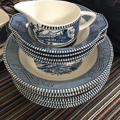 Currier And Ives Royal Dinnerware 30 Piece Lot
