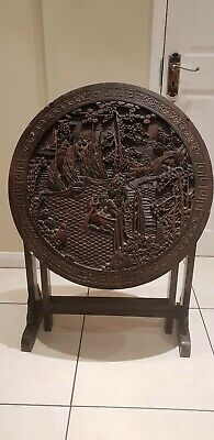 Oriental Antique Carved Folding Table