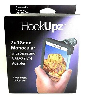 Carson Hookupz 7x 18mm Monocular with Samsung Galaxy S4 Adapter Style IC-418D