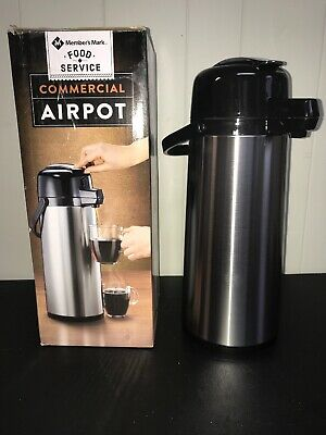 Member's Mark Commercial Airpot, 74.4 oz.,2.2 L, New, (SEE NOTES)