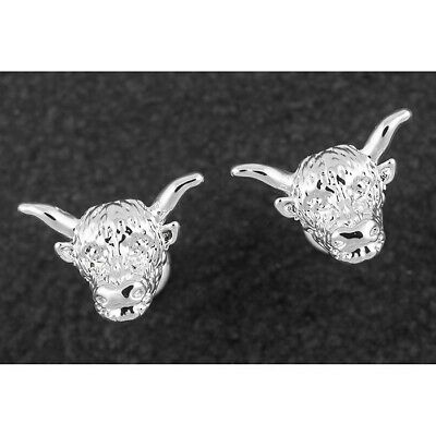 GIFTBOXED Equilibrium Silver Plated Unicorn Dreams Head Diamante Earrings 284781